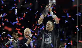 New England Patriots' Tom Brady won his record fifth Super Bowl title with Sunday's victory over the Atlanta Falcons. Brady was the difference in each Super Bowl victory. (Associated Press)