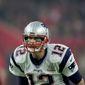 New England Patriots quarterback Tom Brady calls signals at the line against the Atlanta Falcons at Super Bowl 51  in Houston on Feb. 5, 2017. (Associated Press)