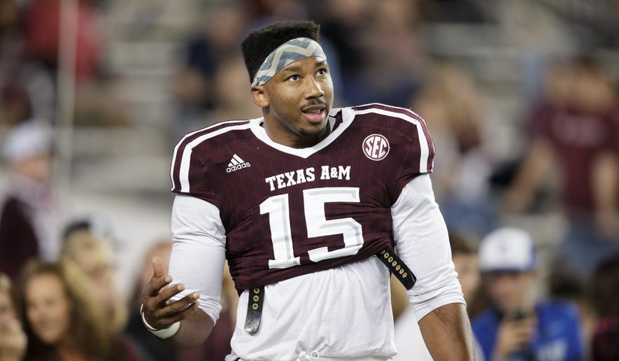Texas A&M edge rusher Myles Garrett is a potential No. 1 overall pick in the NFL draft (Associated Press).