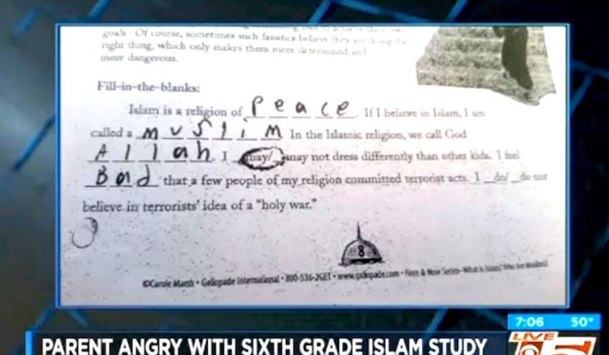 Five Pillars of Islam worksheet for sixgraders angers in South – 5 Pillars of Islam Worksheet