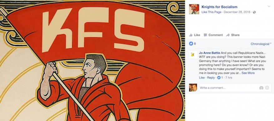 """A group at the University of Central Florida teaches a self-defense class that excludes Republicans. Members are prepared for ways to """"bash"""" alleged fascists. (Facebook, Knights for Socialism)"""