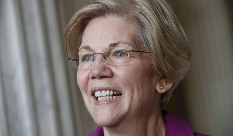 Sen. Elizabeth Warren, Massachusetts Democrat, was rebuked on the Senate floor last week. (Associated Press)