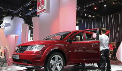 FILE - In this Saturday, Sept. 19, 2009, file photo, a Dodge Journey is seen on the first public day at the Frankfurt Auto Show in Frankfurt, Germany. Since its introduction in 2009, the Dodge Journey midsize SUV has been made at a Fiat Chrysler plant in Toluca, Mexico. The Toluca plant, which opened in 1968, has made numerous other vehicles over the years, including the Chrysler PT Cruiser. (AP Photo/Daniel Roland, File)