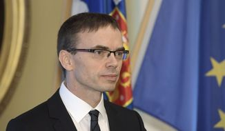 """Irrespective of who controls the House and Congress, we want to work very closely with the U.S. on every level of government and intend to do so with President Trump,"" said Estonian Foreign Minister Sven Mikser, who emphasizes the importance of NATO. (Associated Press)"