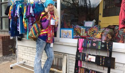 Self-styled hippie Kitty Morgan opened a store called Summer of Love less than a year after Ellicott City floods destroyed her former place of employment.
