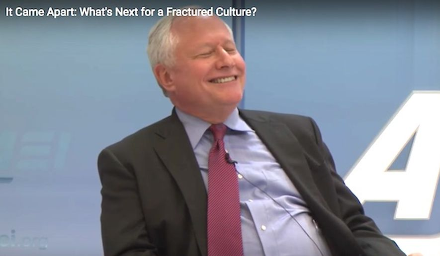 Pundit Bill Kristol attends an event at American Enterprise Institute on Feb. 7, 2017. (YouTube, AEI video screenshot) ** FILE **