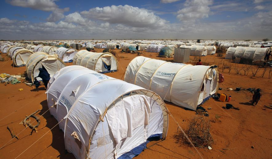 Tents are seen at the UNHCR's Ifo Extension camp outside Dadaab, eastern Kenya, 100 kilometers (62 miles) from the Somali border, in this Friday, Aug. 5, 2011, file photo. A Kenyan court on Thursday, Feb. 9, 2017, declared illegal a government order to close the world's largest refugee camp and send more than 200,000 people back to war-torn Somalia. (AP Photo/Jerome Delay, File)