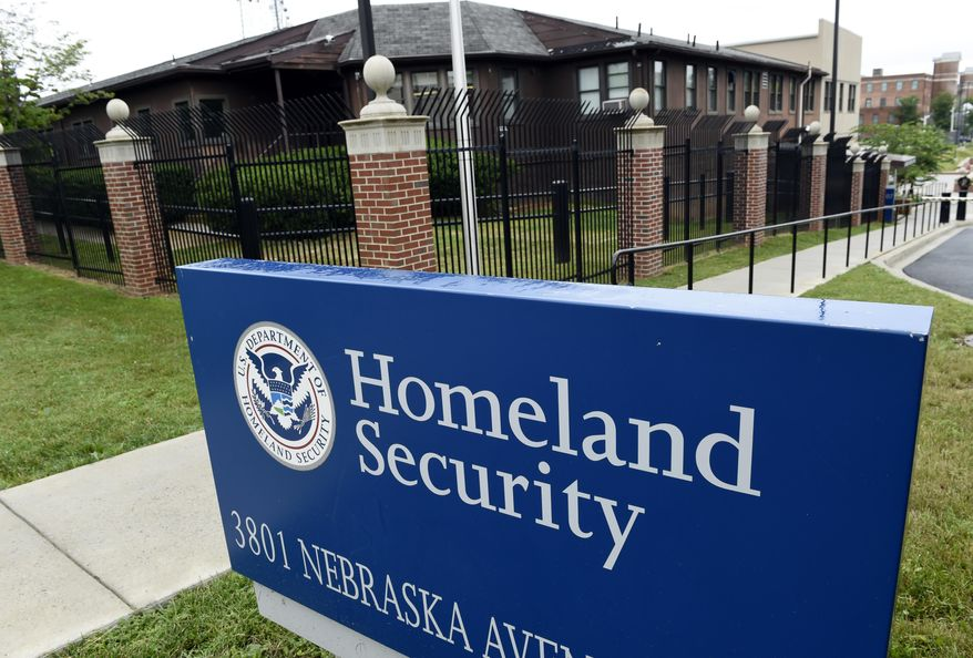 The Homeland Security Department headquarters in Washington is seen here on June 5, 2015. (Associated Press) **FILE*