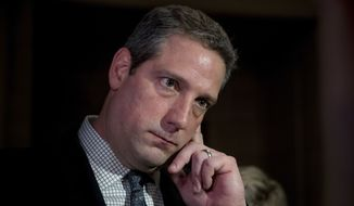 Rep. Tim Ryan, Ohio Democrat, is seen on Capitol Hill in Washington on Nov. 30, 2016. (Associated Press) ** FILE **