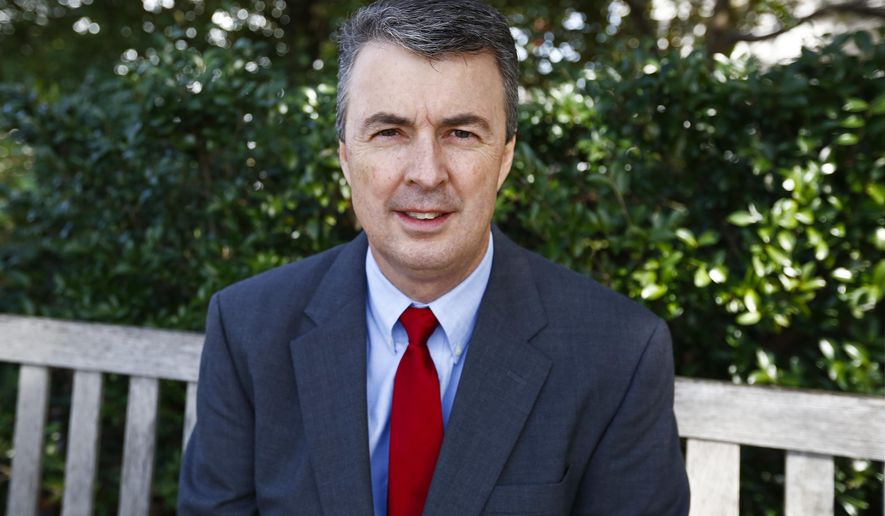 In this photo taken Feb. 9, 2017, former Alabama District Attorney Steve Marshall sits for a portrait in Montgomery, Ala. Marshall, the long-time district attorney of Marshall County District, has been appointed as Alabama attorney general. Gov. Robert Bentley announced the appointment Friday. (AP Photo/Brynn Anderson)