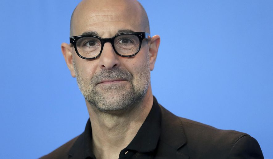 Director Stanley Tucci poses for the photographers during a photo call for the film 'Final Portrait' at the 2017 Berlinale Film Festival in Berlin, Germany, Saturday, Feb. 11, 2017. (AP Photo/Michael Sohn)