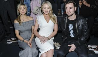 Marla Maples, left to right, Tiffany Trump, and Ross Mechanic are seen at Taoray Wang at Skylight Clarkson Square on Saturday, Feb. 11, 2017, in New York. (Photo by Christopher Smith/Invision/AP)