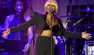 Mary J. Blige performs at the Clive Davis and The Recording Academy Pre-Grammy Gala at the Beverly Hilton Hotel on Saturday, Feb. 11, 2017, in Beverly Hills, Calif. (Photo by Chris Pizzello/Invision/AP)