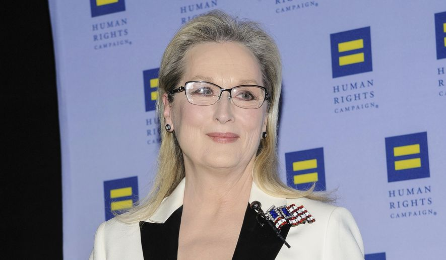 Meryl Streep attends the Human Rights Campaign Greater New York Gala at Waldorf Astoria Hotel on Saturday, Feb. 11, 2017, in New York. (Photo by Christopher Smith/Invision/AP) ** FILE **