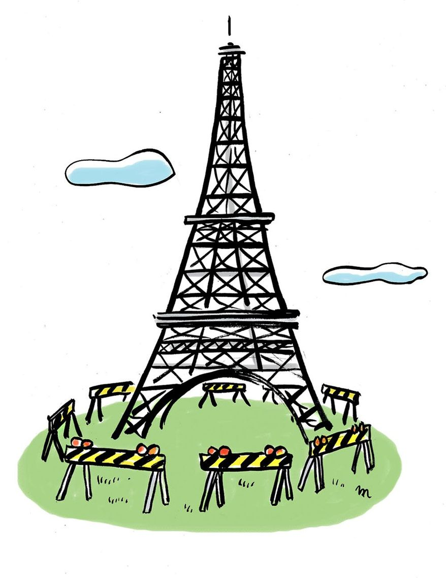 Illustration on antiterrorist measures in France by Mark Weber/Tribune Content Agency
