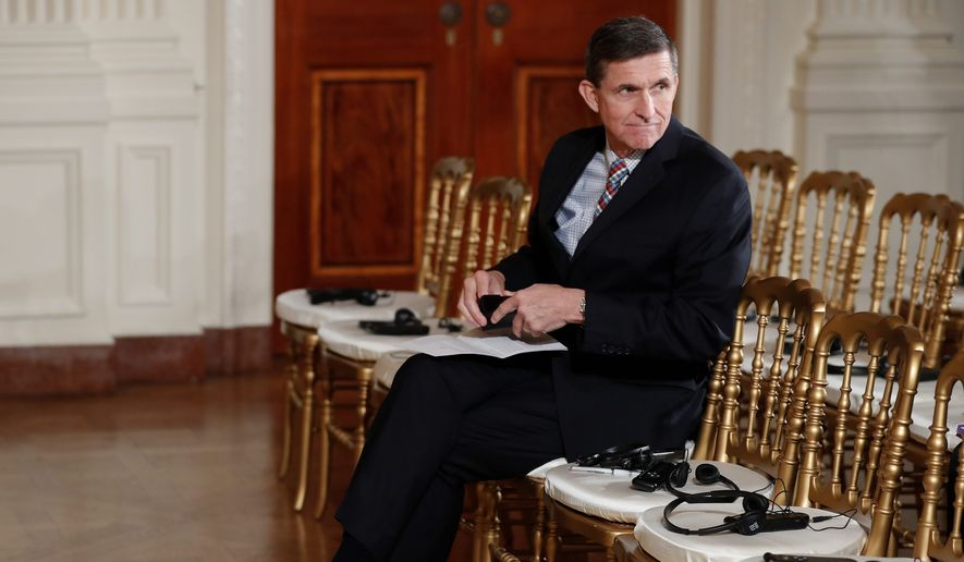 National Security Adviser Michael Flynn is accused in reports of having secret talks with the Russian ambassador before President Trump took office, a potential violation of the Logan Act, which forbids private citizens from engaging in foreign diplomacy. (Associated Press)