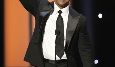 Dwayne Johnson accepts the award for entertainer of the year at the 48th annual NAACP Image Awards at the Pasadena Civic Auditorium on Saturday, Feb. 11, 2017, in Pasadena, Calif. (Photo by Matt Sayles/Invision/AP)