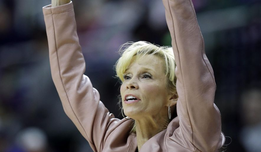 Michigan State head coach Suzy Merchant during the first half of an NCAA college basketball game, Sunday, Feb. 12, 2017, in East Lansing, Mich. (AP Photo/Carlos Osorio)