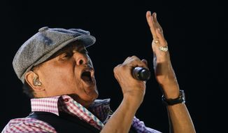 In this Sept. 27, 2015, file photo, Al Jarreau performs at the Rock in Rio music festival in Rio de Janeiro, Brazil. Jarreau died in a Los Angeles hospital Sunday, Feb. 12, 2017, according to his official Twitter account and website. (AP Photo/Felipe Dana, File)
