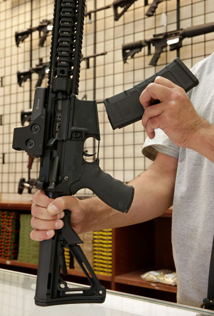 The San Francisco attorney's office says the city is being proactive before a ban on large-capacity magazines takes effect because studies show upticks in purchasing in anticipation of gun laws. (Associated Press)