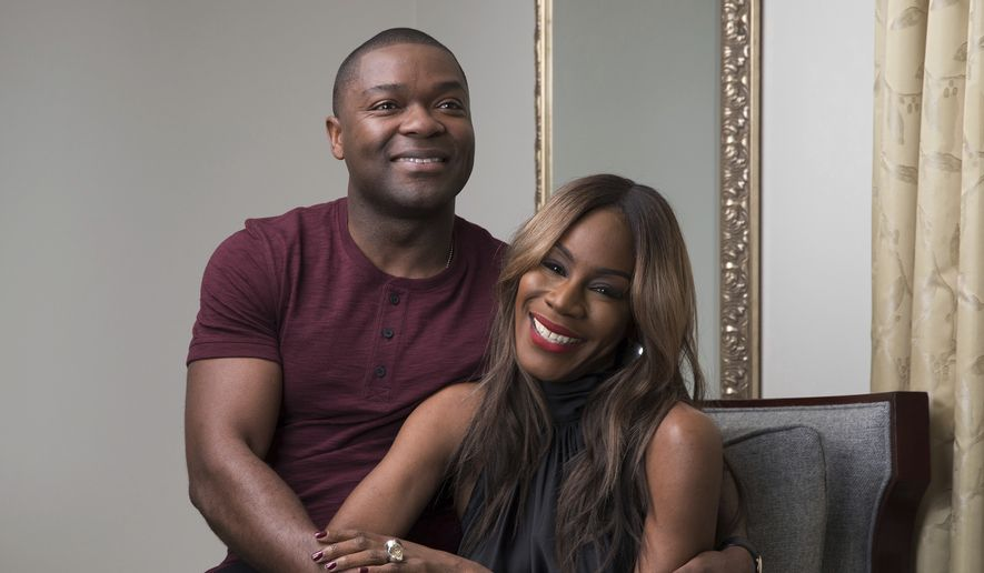 "This Feb. 5, 2017 photo shows producer-actor David Oyelowo, left, and director Amma Asante in New York to promote their film, ""A United Kingdom.""  (Photo by Amy Sussman/Invision/AP)"
