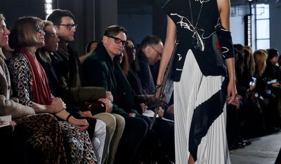 Fashion collection from Proenza Schouler is modeled during Fashion Week on, Monday, Feb. 13, 2017, in New York. (AP Photo/Bebeto Matthews)
