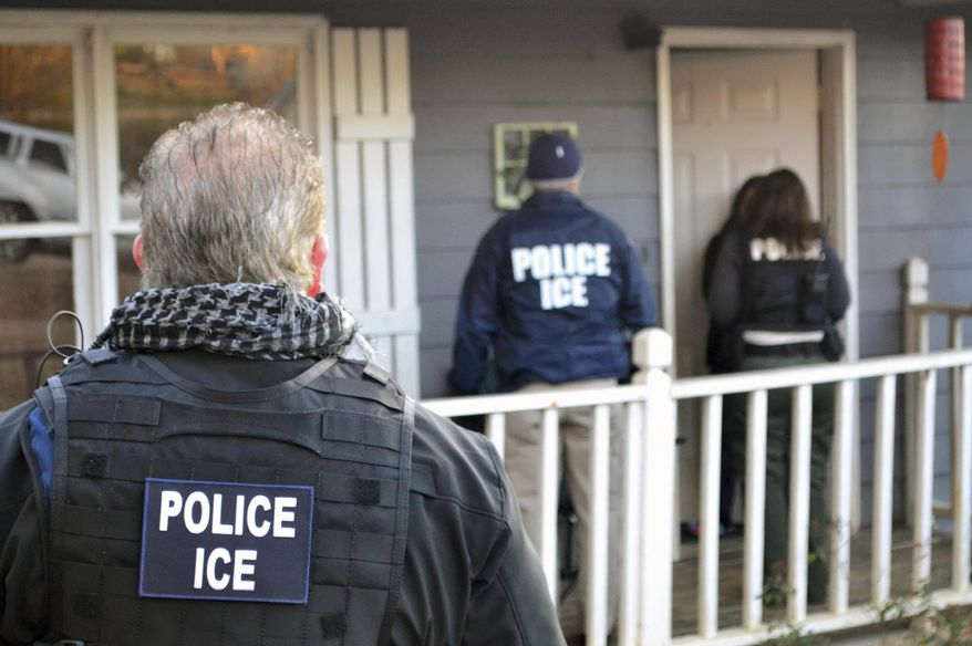 Advocacy groups have encouraged illegal immigrants to exercise their rights and to resist deportation efforts, resulting in a spike in noncompliance. (Associated Press/File)