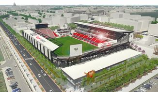 The D.C. United's new soccer stadium will be known at Audi Field and is scheduled to open in mid-2018. (Photo by D.C. United) **FILE**