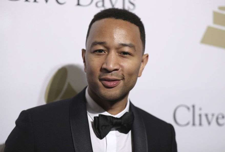 John Legend attends the Clive Davis and The Recording Academy Pre-Grammy Gala at The Beverly Hilton Hotel on Saturday, Feb. 11, 2017, in Beverly Hills, Calif. (Photo by Rich Fury/Invision/AP)