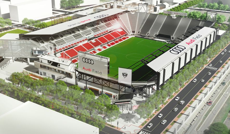 Audi Field, future home of the D.C. United, will open in the District in mid-2018. (Photo by D.C. United).