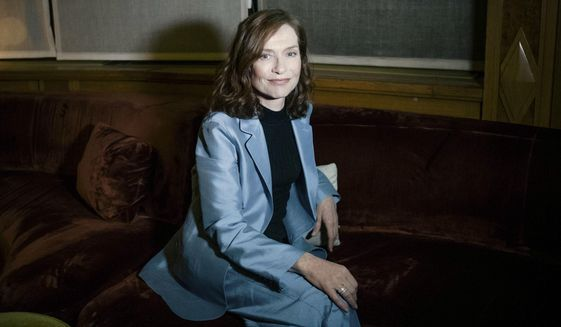 "FILE - This Jan. 24, 2017 file photo shows French actress Isabelle Huppert after an interview in Paris, France. Huppert is nominated for an Oscar for best actress in a leading role, for her work in the film, ""Elle"". (AP Photo/Zacharie Scheurer, File)"
