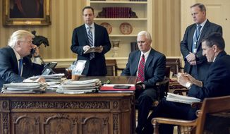 Many of the leaks have dealt with confidential details of the Russia probe or with sensitive internal White House conversations or talks with world leaders. (Associated Press/File)