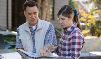 "This image released by IFC shows Fred Armisen, left, and Carrie Brownstein in a scene from ""Portlandia,"" airing Thursdays at 10 p.m. EST (Augusta Quirk/IFC via AP)"