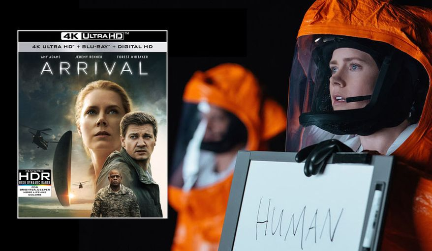 "Amy Adams stars as Louise Banks in ""Arrival,"" now available on 4K Ultra HD from Paramount Pictures Home Entertainment."