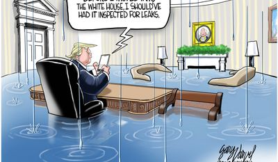 Before I moved into the White House ... (Illustration by Gary Varvel for Creators Syndicate)