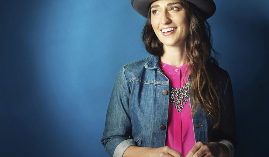 """FILE - In this Nov. 3, 2015 file photo, musician Sara Bareilles poses for a portrait in New York. The singer-songwriter of """"Brave"""" and """"Love Song"""" will make her Broadway acting debut on March 31, 2017,  in the lead role of Jenna Hunterson in the new Broadway musical """"Waitress."""" (Photo by Victoria Will/Invision/AP, File)"""