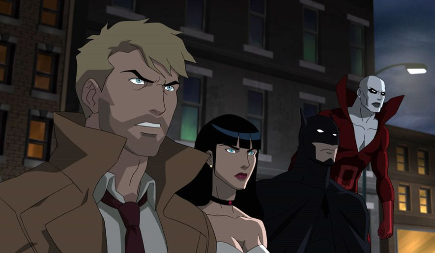 "John Constantine, Zatanna, Batman and Deadman battle the forces of evil in ""Justice League Dark,"" now available on Blu-ray from Warne Bros. Home Entertainment."
