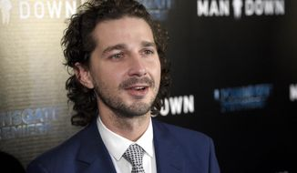 "In this Nov. 30, 2016 file photo, Shia LaBeouf arrives at the Los Angeles premiere of ""Man Down"" at ArcLight Cinemas Hollywood. (Photo by Chris Pizzello/Invision/AP, File)"