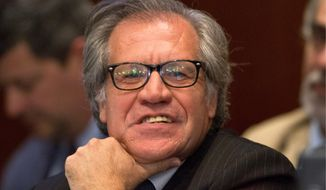 Luis Almagro, secretary-general of the Organization of American States, will travel to Cuba on Wednesday to receive a pro-democracy award. (Associated Press)