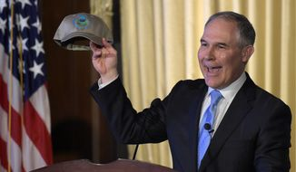 New EPA Administrator Scott Pruitt invoked conservationist John Muir in his remarks Tuesday, which riled up the conservation lobby, who say Mr. Pruitt's track record shows him to be no friend to the environment. (Associated Press)
