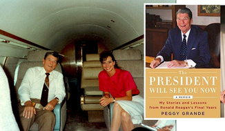"Peggy Grande, author of a recently released memoir, ""The President Will See You Now"""
