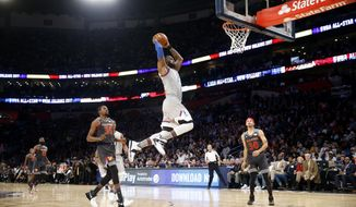 Eastern Conference LeBron James of the Cleveland Caveliers (23) goes to the basket during the first half of the NBA All-Star basketball game in New Orleans, Sunday, Feb. 19, 2017. (AP Photo/Gerald Herbert)