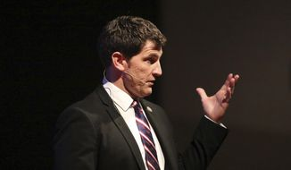 Democratic candidate Elaine Luria is trying to unseat Republican U.S. Rep. Scott Taylor (pictured) in Virginia's 2nd District. (Associated Press)