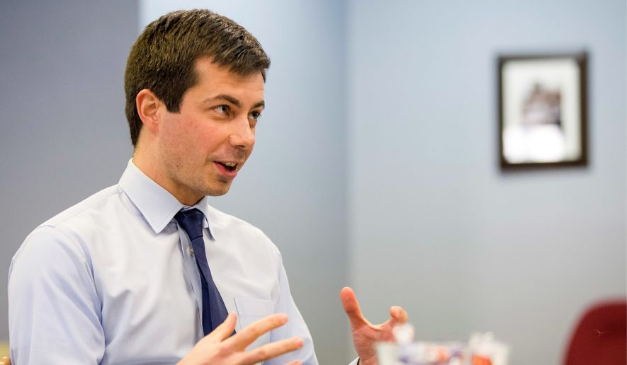 "Pete Buttigieg, the mayor of South Bend, Indiana, has the type of identity that can appeal to Democrats, but the candidate for the Democratic National Committee is warning about the party's ""salad bar problem"" involving identity politics. (Associated Press)"