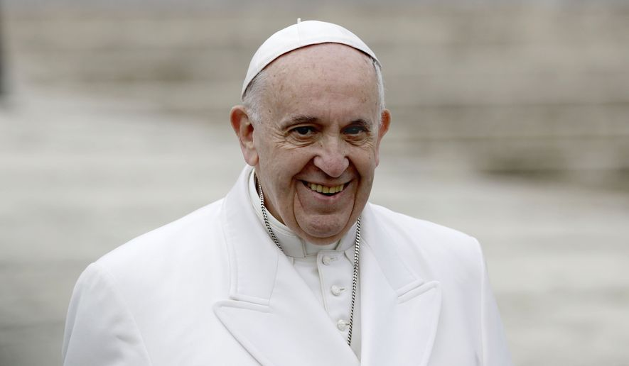 Pope Francis smiles during his weekly general audience, in St. Peter's Square at the Vatican, Wednesday, Feb. 22, 2017. (AP Photo/Andrew Medichini)