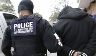 Under a proposed agreement, sheriffs would be acting on behalf of U.S. Immigration and Customs Enforcement, which would pay to have detainees kept until federal officers can get them. (Associated Press/File)
