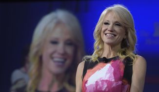 White House counselor Kellyanne Conway speaks at the Conservative Political Action Conference (CPAC) in Oxon Hill, Md., Thursday, Feb. 23, 2017. (AP Photo/Susan Walsh) ** FILE **