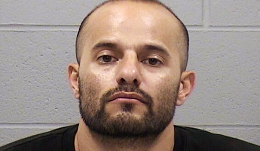 This undated photo provided by the Harvey County Sheriff's Office in Newton, Kan., shows David Lee Montano, of Newton. Montano, who was suspected of gunning down three other men in a home before being fatally shot by a police officer early Thursday, Feb. 23, 2017, knew his victims and targeted them, authorities said. (Harvey County Sheriff's Office via AP)
