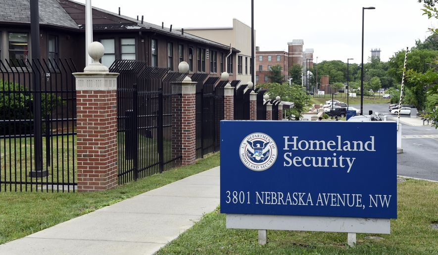 In this June 5, 2015, file photo, a view of the Homeland Security Department headquarters in Washington. (AP Photo/Susan Walsh, File)