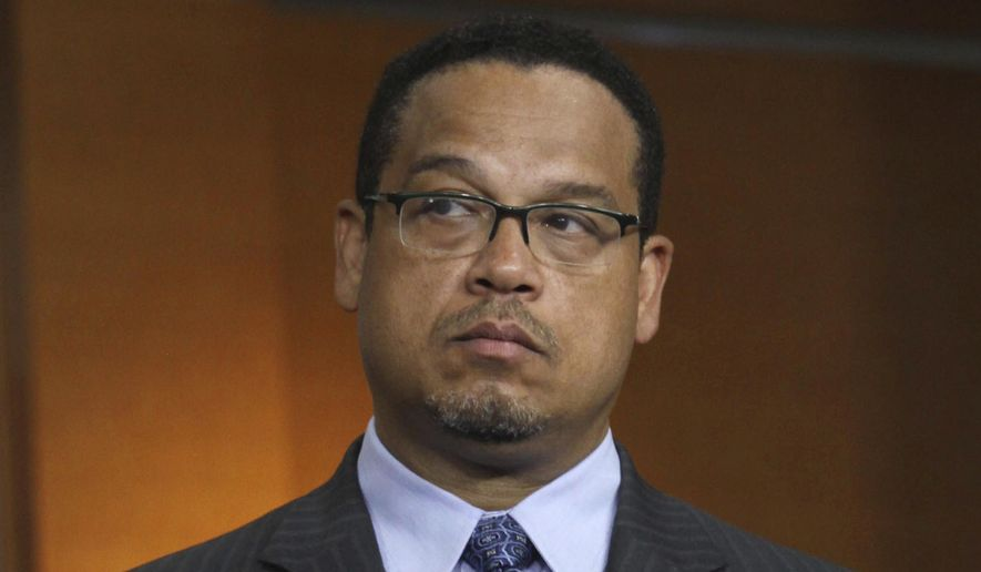 In this June 16, 2016 file photo, Rep. Keith Ellison, D-Minn. is seen on Capitol Hill in Washington. (AP Photo/Lauren Victoria Burke, File)